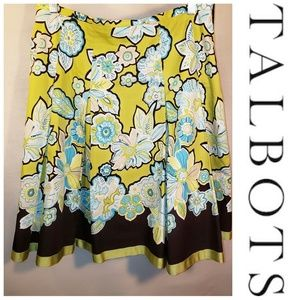 🔥3/$15🔥 Talbots Floral Lined Pleated Skirt